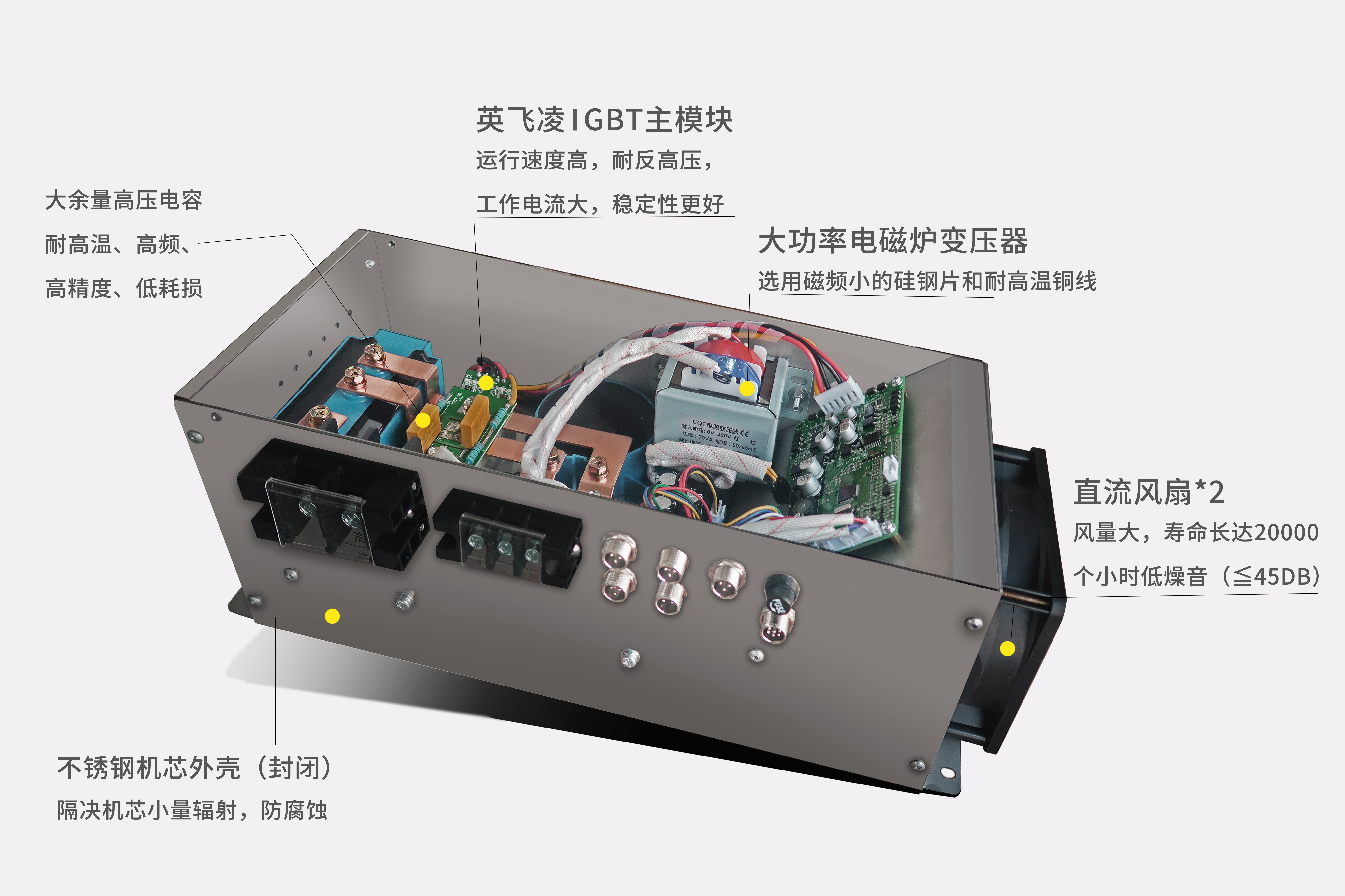 商用电磁炉机芯