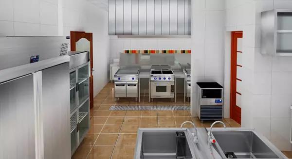 使用商用电磁炉的厨房